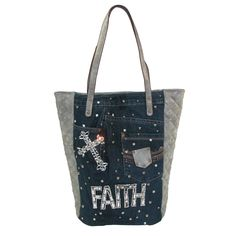 3 D Belt Company Women's Denim Faith Tote Handbag