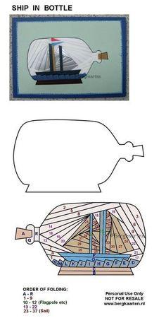 Irisvouwen: Ship in Bottle: