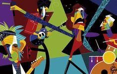 Rolling Stones 2016 by Pablo Lobato Rock Band Posters, Create A Comic, Los Rolling Stones, Rollin Stones, Celebrity Caricatures, Sketch A Day, Rock Legends, Art Techniques, Rock Art