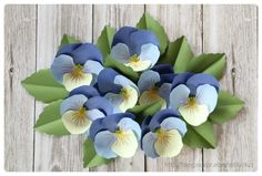 DIY paper flower - Pansy