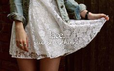 Lace Shirts, Lace Skirts, Lace Dresses, Etc. | I love love lace. #Repin By:Pinterest++ for iPad#