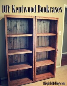 DIY Kentwood Bookcases Great Woodworking Plans For Home Projects Woodworking is an acquired ability Diy Wood Projects, Furniture Projects, Furniture Plans, Wood Furniture, Home Projects, Building Furniture, Furniture Repair, Bookshelf Plans, Bookshelf Design