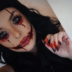 Makeup By Andrea Moreno  E2 9a B0 Bennyemakeup Scab Blood And Stage Blood Kryolanuk Rigid Collodion Peekaboo_weseeyou Cover