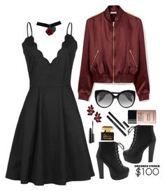 """""""dress under 100"""" by fashionfreakout18 ❤ liked on Polyvore featuring Mulberry, Alexander McQueen, MAKE UP FOR EVER, MAC Cosmetics and Dolce&Gabbana"""