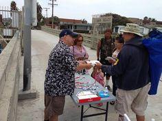 Street evangelization in Ocean Beach, near San Diego, California.