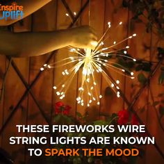 This dazzling Fireworks Wire String Light fixture has a total of 150 top-quality LED lights. Every wire branch has 4 to 5 micro LED lights that shine brighter and more brilliant than any traditional string lights. Backyard Lighting, Outdoor Lighting, Outdoor Decor, Decorating Your Home, Diy Home Decor, String Lights Outdoor, Light String, String Lighting, Home Decoracion