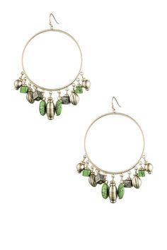 Glass Beaded Hoop Earrings