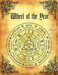 BOS 10 Pages Samhain  Wiccan Weel of the Year Printable