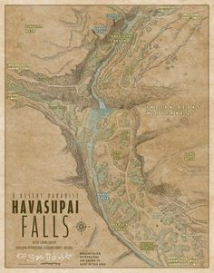 Havasupai Falls in the Grand Canyon
