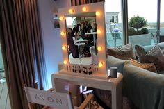 Avon make-up station! A traveling set up. Nice.