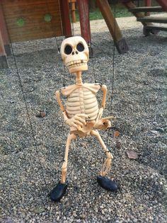 Skeleton marionette puppet street dance string professional