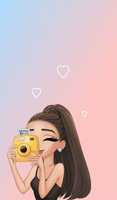 Amo a ariana grande soy su super fan ❤❤❤❤ Emoji Wallpaper, Wallpaper Iphone Disney, Cute Disney Wallpaper, Cute Wallpaper Backgrounds, Cute Cartoon Wallpapers, Tumblr Wallpaper, Girl Wallpaper, Aesthetic Iphone Wallpaper, Phone Backgrounds