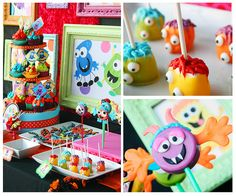 Creepy Critters monster party -  like the cake ball idea