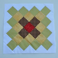 Great Granny Block - Green Yellow Brown and Red by Pleasant Home, via Flickr