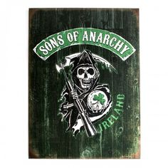 Sons of Anarchy Ireland Reaper Wood Sign