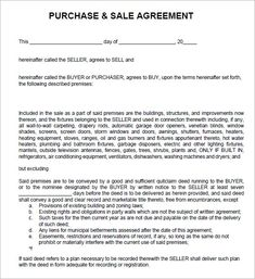 Charming Sales Agreement Image 1