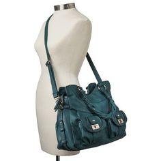 Moda Luxe Satchel with Crossbody Strap - Teal from Target. WANT