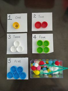 Color Matching + Counting Activity for Kids Today i am going to share this simple counting and matching activity that most kids will enjoy. activities for preschoolers Color Matching + Counting Activity for Kids Preschool Learning Activities, Preschool Themes, Preschool Colors, Toddler Activities, Preschool Activities, Educational Activities, Fun Learning, Numbers Preschool, Learning Numbers
