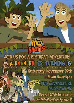 Wild Kratts Birthday Party Invitation por FunkyMonkeyDigital