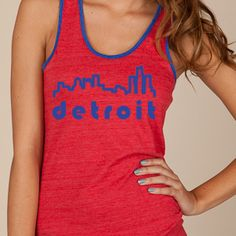 "This two tone organic cotton tank is the newest edition to Envolve Clothing family. Taken right out of the ""D"", this design is just the tip of what the city has to offer. This trendy tank will show your support and love for the City of Detroit."