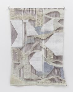 """From Back To Front, Curated by Jessica Hemmings, """"No One Can Hear You,"""" Nicole Pyles, 2014, 39 x 29 x 1/3 in., 5 EPI, acrylic, wool, cotton and school glue. Photo: RCH 