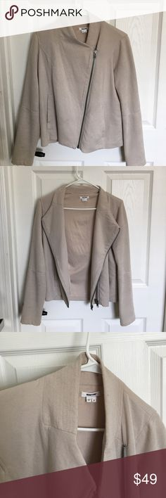 Helmut lang jacket Beige Helmut lang jacket, a little worn, probably needs to be dry cleaned, looks great on Helmut Lang Jackets & Coats