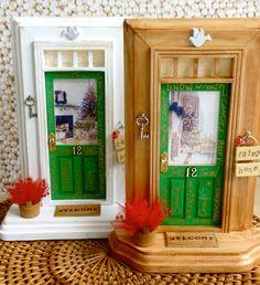 Christmas-themed Fairy Doors!!!  www.apeekinside.etsy.com