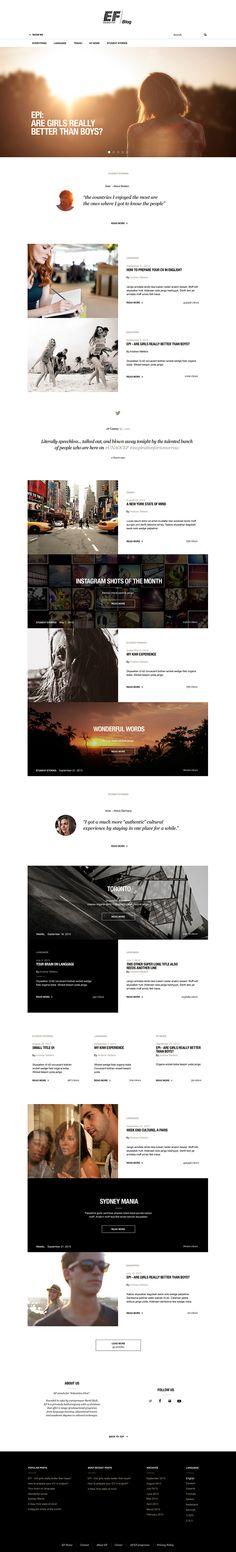 Web   EF Blog on Behance