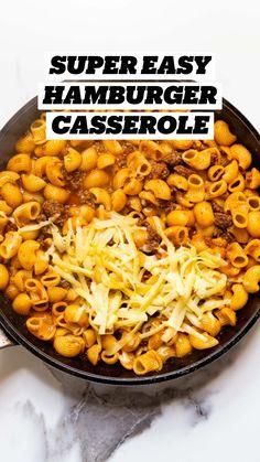 Italian Recipes, Beef Recipes, Easy Recipes, Cooking Recipes, Healthy Recipes, Easy Hamburger Casserole, Easy Casserole Recipes, Holiday Recipes, Dinner Recipes