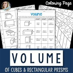 About this resource : This activity is a fun way to allow students to practice finding the volume of a cube or rectangular prism! Included are 10 questions, a coloring page and answer key! Available in the following bundles : Basic Geometry Unit Resources 6th Grade Math Curriculum Resources Mega BundleMiddle School Math Coloring Pages {Version Two - A Growing Bundle}Terms of Use Lindsay Perro.