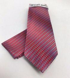Stacy Adams Men S Tie Hanky Set Red Silver Navy Cobalt Blue Microfiber
