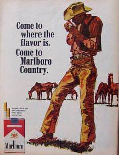 Marlboro Cigarette Advertising. Ads in 1967