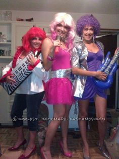 Coolest Jem and the Holograms Girls Group Costume  sc 1 st  Pinterest & 263 best Jem and the Holograms Costume images on Pinterest | My ...