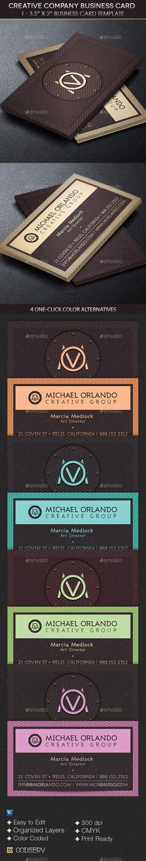 Creative Company Business Card Template Carte De Visite Minimale Cartes