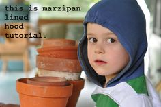 by mary frances {this is marzipan.} #sewing #hoodie #hood #boys #making