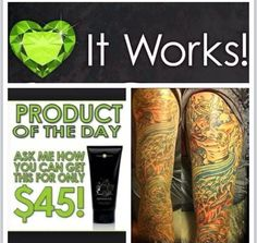 Need to brighten a tattoo? Our defining gel works for many things. It's liquid gold! Wizworks.myitworks.com