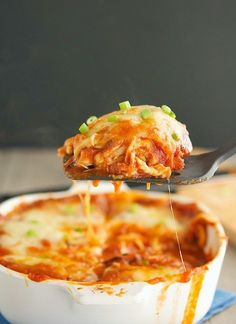 (Primal) Chicken Enchilada Casserole - This looks great (everything but the cheese of course!!)