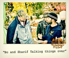 Bo & Sharif discussing the scene  - Behind the Scenes