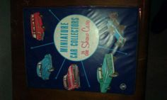 EMPTY-miniature car collectors show case,no carsVINTAGE,toy car case,1960's,NICE