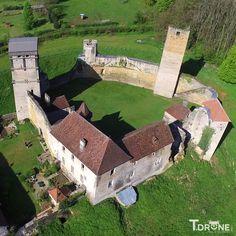 Le château d'Oricourt (Haute-Saône) par drone