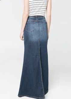 Falda larga denim