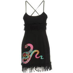 Msgm Short Dress ($445) ❤ liked on Polyvore featuring dresses, black, swing dress, sleeveless dress, tweed dress, pocket dress and msgm dress