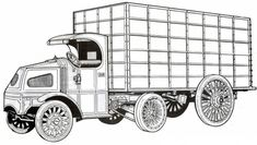1916 Mack Old Truck Coloring Pages