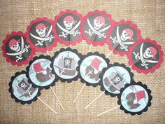 Pirate Cupcake Toppers. $5.95, via Etsy.