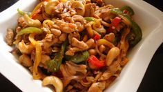 kip cashew in chili pasta Entree Recipes, Asian Recipes, Dinner Recipes, Cooking Recipes, Asian Foods, Cooking Tips, Dinner Ideas, Kopy Kat Recipe, Panda Express Recipes