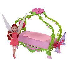 Disney Fairies 4.5 inch Doll Playset - Rosetta's Pixie Bedroom
