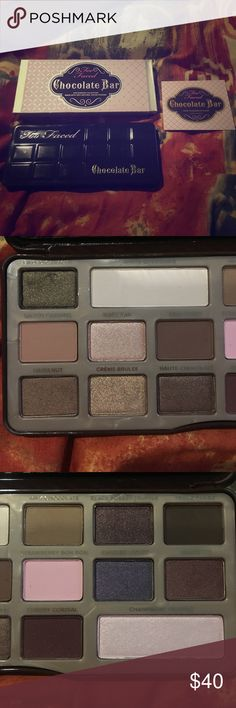 Too Faced Chocolate Bar Palette 100% guaranteed authentic and brand new!! Too Faced Makeup Eyeshadow