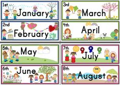 Months with ordinal numbers