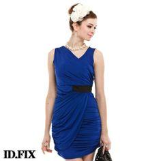 IDF brand 2014 summer new fashion women sleeveless elastic sheath dress  ladies sexy blue mini casual slim dresses free shipping  21.40 f26633e92