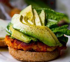 Soy hamburger with extra avocado!!!
